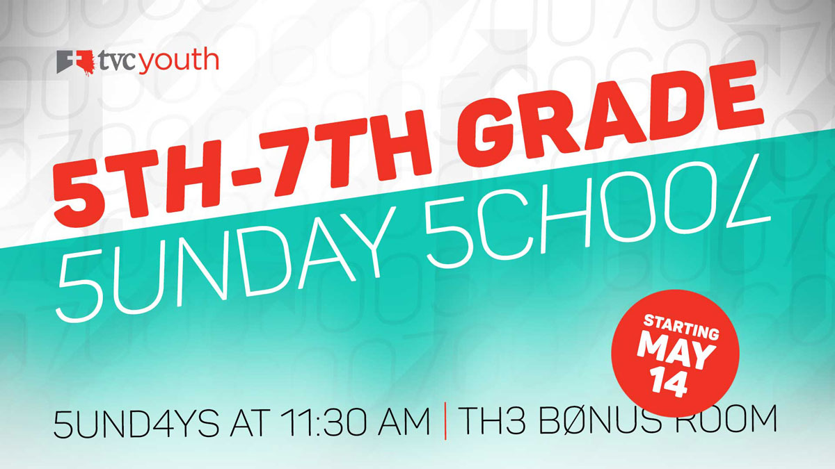 5th-7th Grade Sunday School